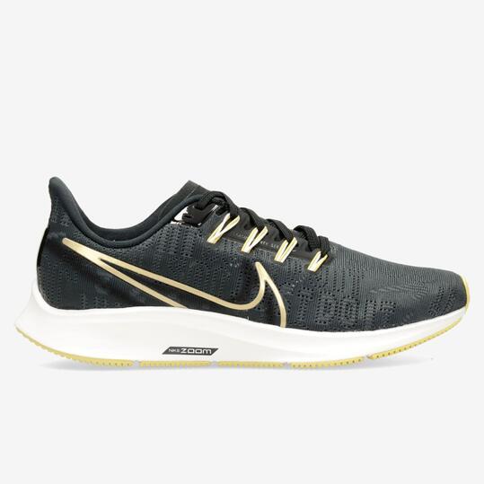 Nike Air Zoom Pegasus 36 Negro - Zapatillas Running Mujer