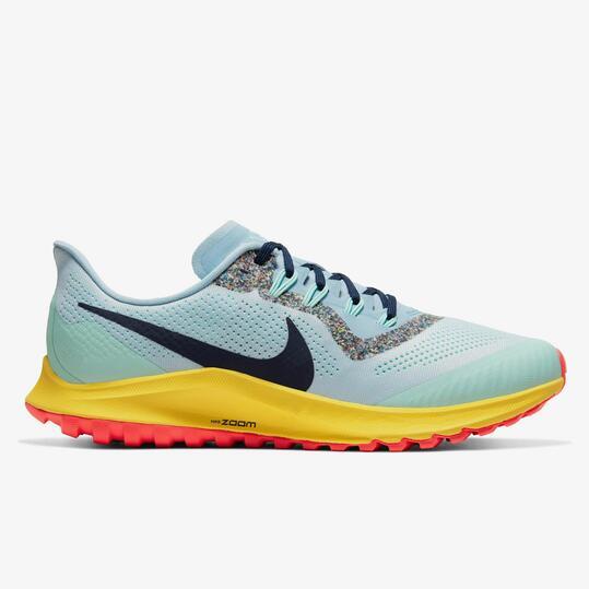 Nike Air Zoom Pegasus 36 Celeste - Zapatillas Trail Hombre