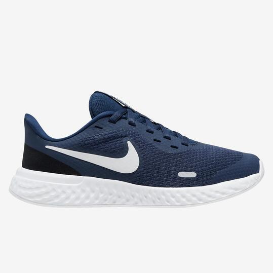 Nike Revolution 5 - Marino - Zapatillas Running Chico