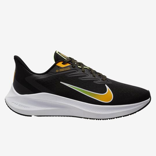 Nike Air Zoom Winflo 7 - Negro - Zapatillas Running Hombre