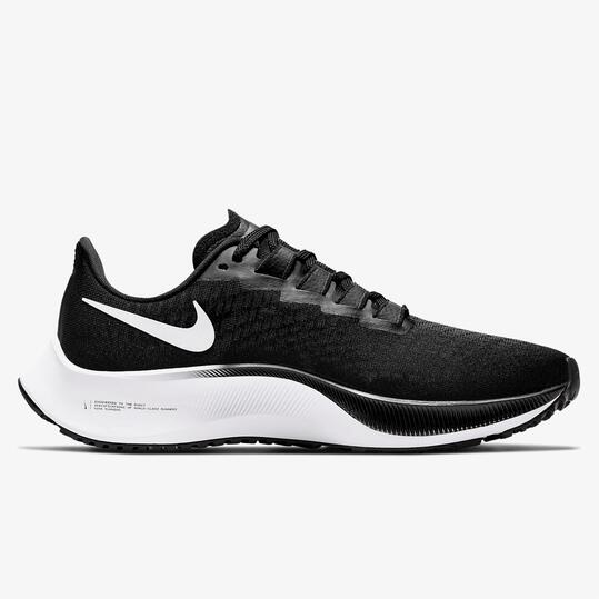 Nike Air Zoom Pegasus 37 Negras - Zapatillas Running Mujer