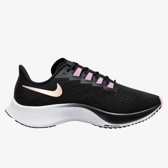 Nike Air Zoom Pegasus 37 - Negro - Zapatillas Running Mujer