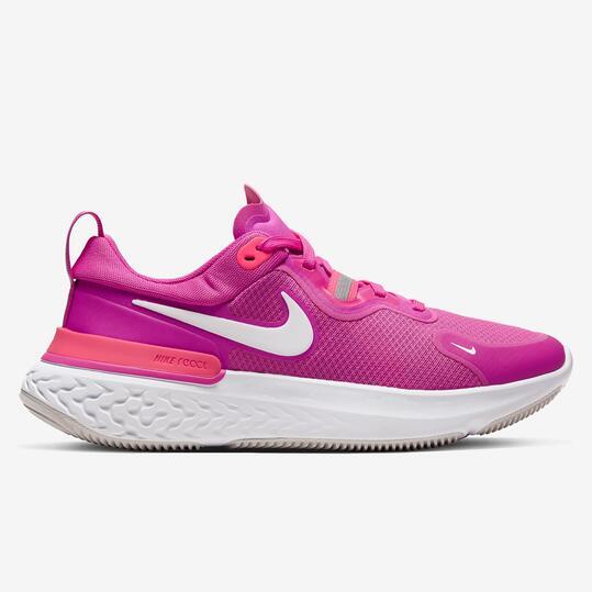 Nike React Miler - Fucsia - Zapatillas Running Mujer