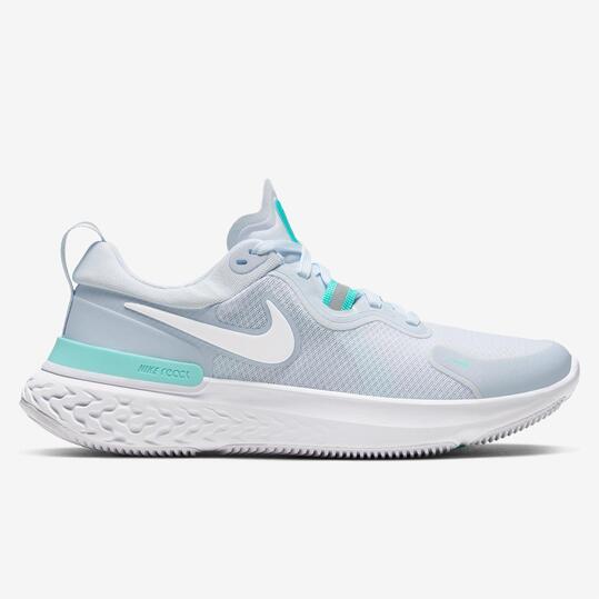 Nike React Miler - Gris - Zapatillas Running Mujer