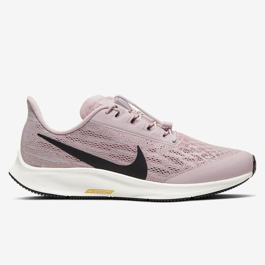 Nike Air Zoom Pegasus 36 Flyease - Malva - Zapatillas Running Mujer