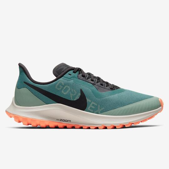Nike Zoom Pegasus 36 GTX - Verde - Zapatillas Trail Mujer