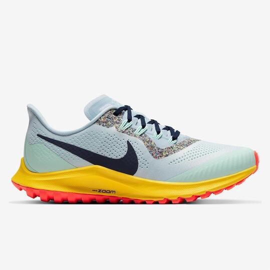 Nike Air Zoom Pegasus 36 Turquesa - Zapatillas Trail Mujer