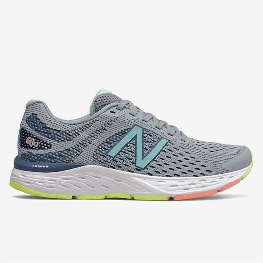 New Balance 680v6 - Gris - Zapatillas Running Mujer