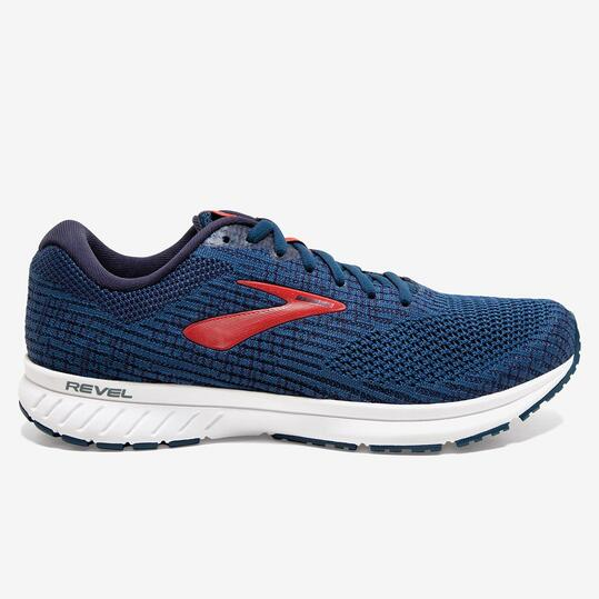 Brooks Revel 3 - Azul - Zapatillas Running Hombre