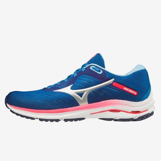 Mizuno Wave Rider 24 Azules - Zapatillas Running Mujer