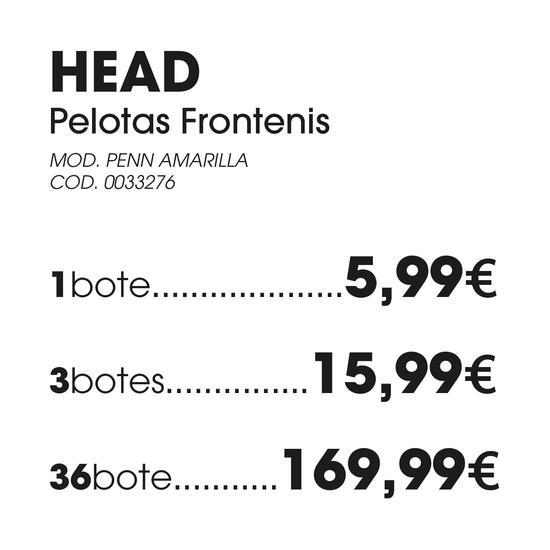 Tubo Pelotas HEAD PENN FRONTENIS