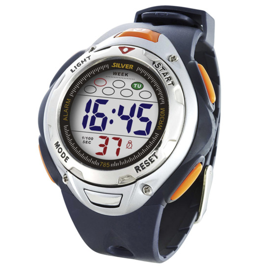 Reloj Digital SILVER Azul Marino Hombre