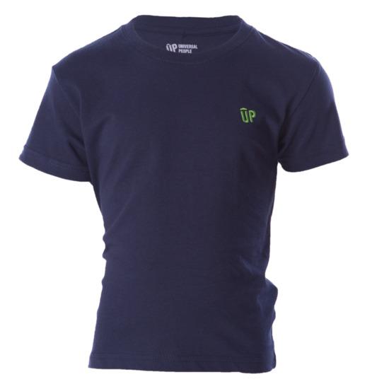 Camiseta Manga Corta UP Azul Marino Niño (2-8)