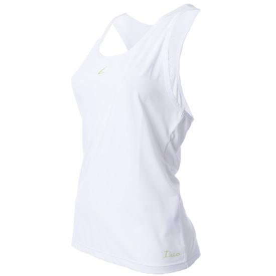 Camiseta ILICO Tirantes Aeróbic BRONCE Mujer en Blanco