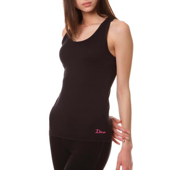 Camiseta ILICO Tirantes Aeróbic BRONCE Mujer en Negro
