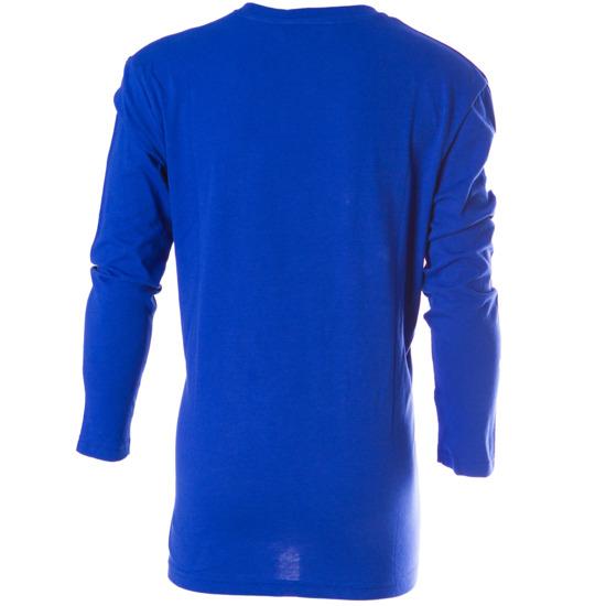 Camiseta manga larga básica niño UP azul (10-16)