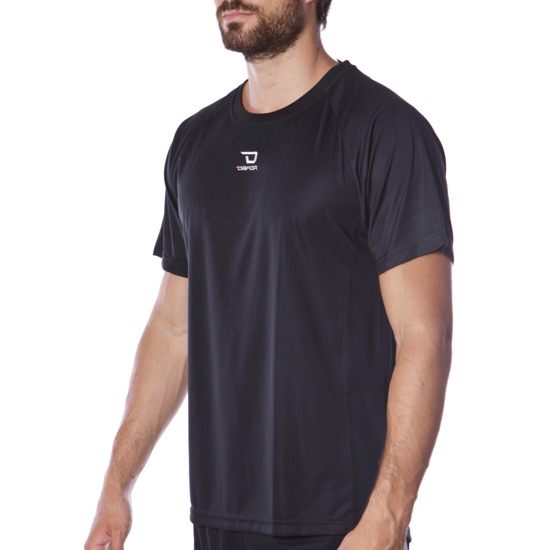 Camiseta manga corta de hombre DAFOR en negro