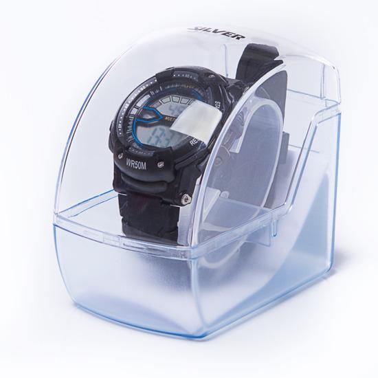 Reloj Moda Sport SILVER Gris Negro Hombre