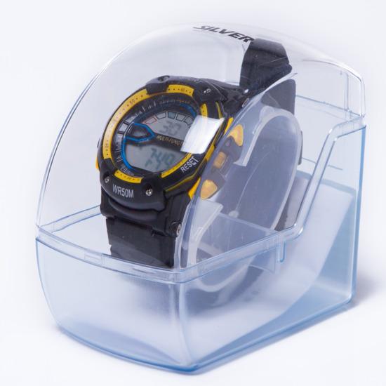Reloj Moda Sport SILVER Gris Amarillo Hombre