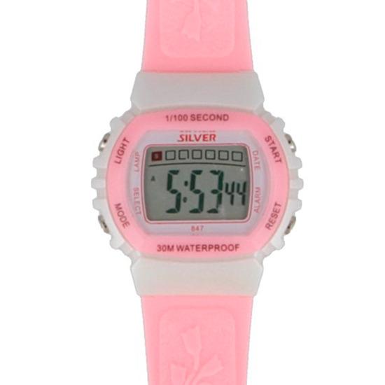 Reloj Digital SILVER Rosa Niña