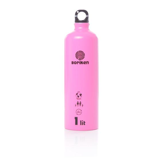 Botella Aluminio Boriken Rosa 1 Litro