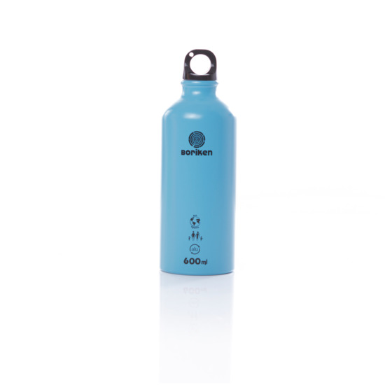 Botella Aluminio BORIKEN Azul 0,6 litros