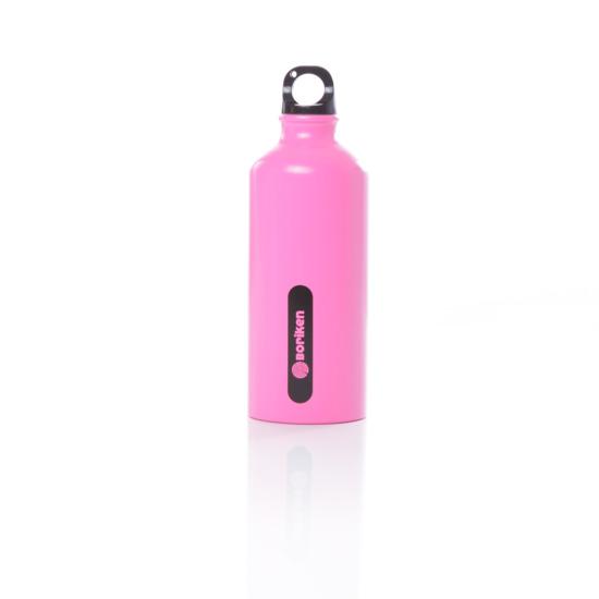 Botella Aluminio BORIKEN Rosa 0,6 litros