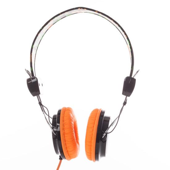 Auriculares SILVER Calavera Naranja