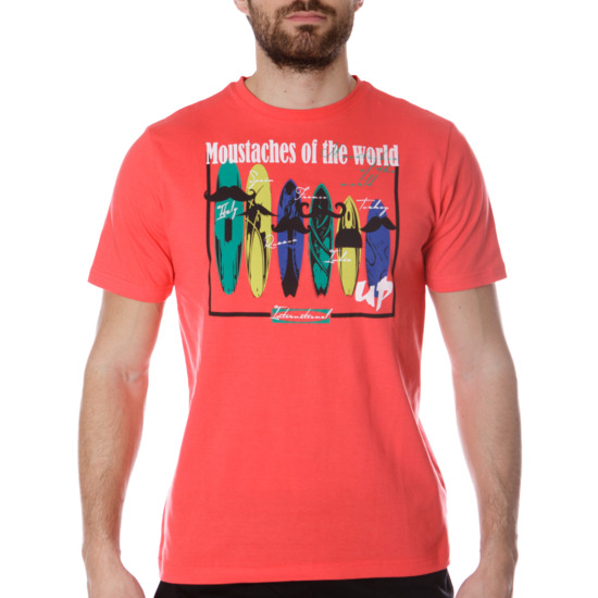 Camiseta UP Stamps Coral Hombre