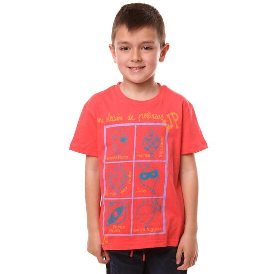 Camiseta UP Stamps Coral Niño (2-8)