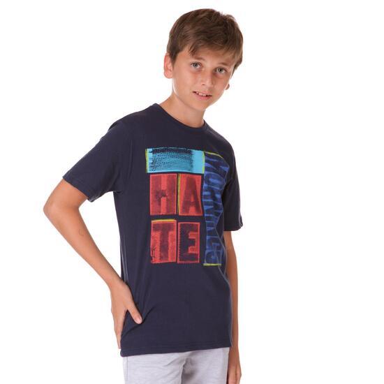 Camiseta UP Stamps Marino Niño