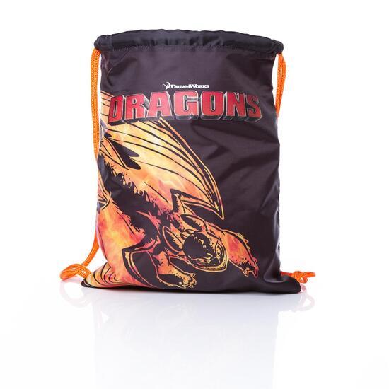 Gymsack DRAGoN Negro Niño