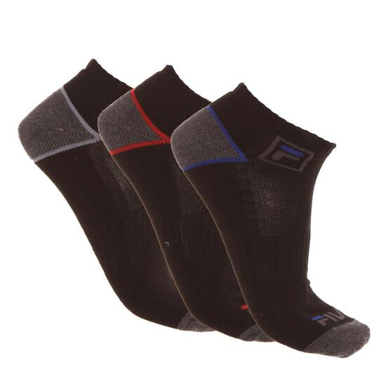 Pack 3 Calcetines FILA Negro Gris Hombre