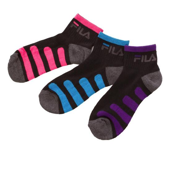Pack 3 Calcetines FILA Negro Gris  Mujer