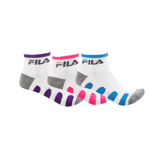 Pack 3 Calcetines FILA Blanco Gris Mujer