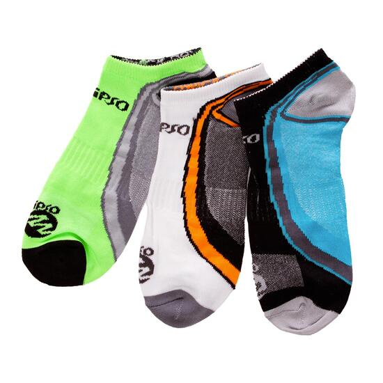 Calcetines Running IPSo Pack-3 Amarillo Hombre