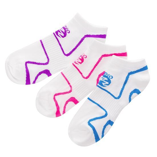 Calcetines Running IPSo Pack-3 Blanco Mujer
