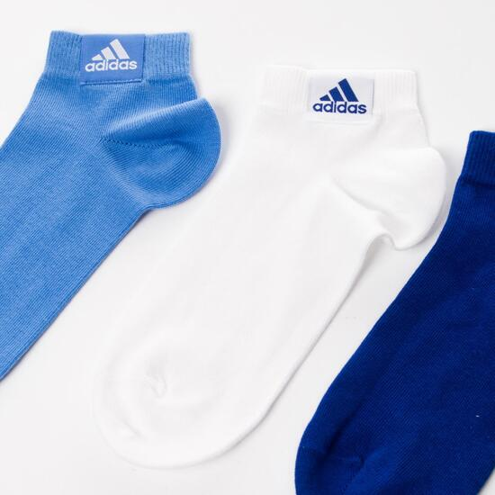 Pack 3 CalcetinesADIDAS Ankle Plain Azul Mujer