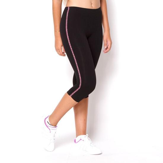 Mallas ILICO Fitness Negro-Vino Mujer