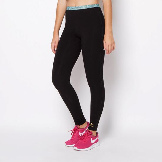 Mallas ILICO Fitness Negro-Verde Mujer