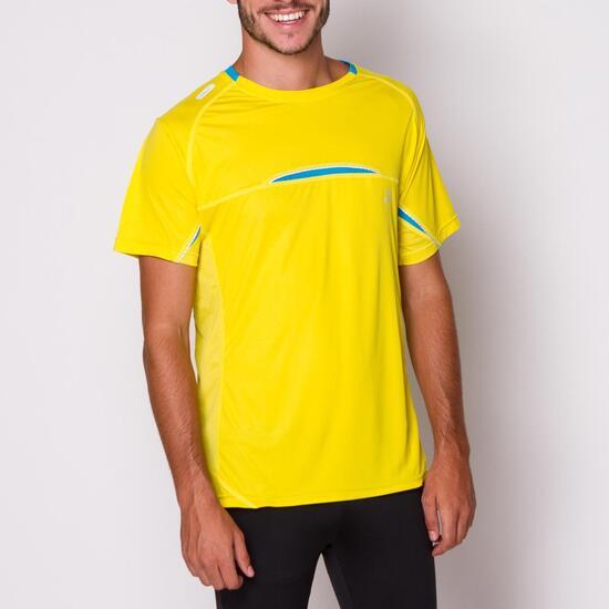 Camiseta Running IPSO Amarillo Hombre