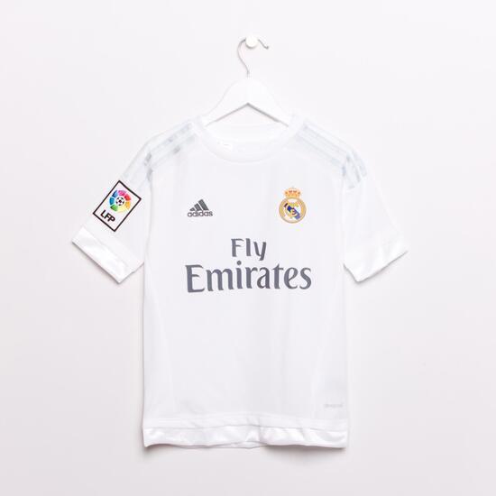 adidas Equipación Oficial Real Madrid Niño (6-14) - BLANCO  de7c6e56016d6
