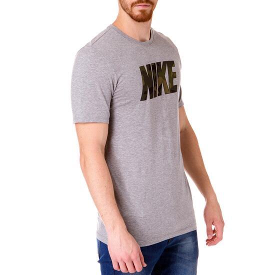 Camiseta Manga Corta Hombre NIKE CAMo Gris
