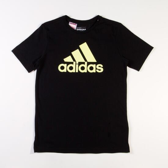 ADIDAS Camiseta Manga Corta Negra Niño (10-16)