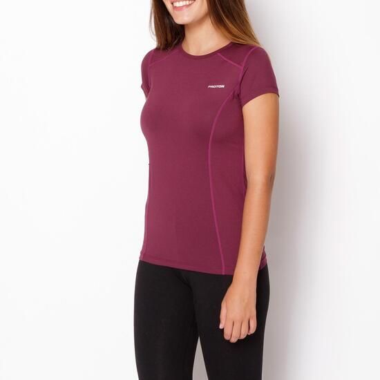 PROTON Camiseta Vino Mujer