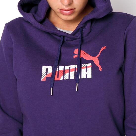 Puma Capucha Mujer Sprinter Fun Morada Sudadera CWc1BnC