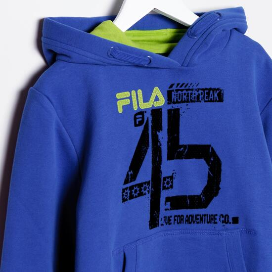 FILA BASIC Sudadera Capucha Azul Niño  (10-16)