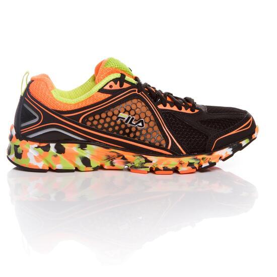 FILA THRESHOLD Zapatillas Running Negro Naranja Hombre