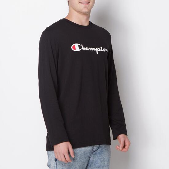 CHAMPION CONTEMPORARY Camiseta Manga Larga Negro Hombre