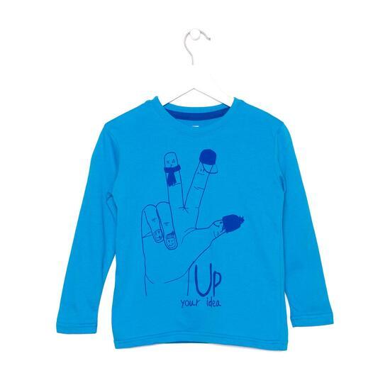 UP Camiseta Manga Larga Azul Niño (2-8)